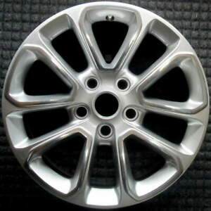 Jeep Grand Cherokee Polished W Silver Spokes 18 Inch Oem Wheel 2014 To 2016