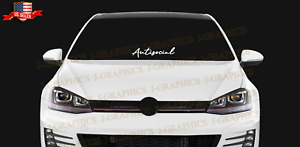 Antisocial Windshield Car 23 Decal Sticker Jdm Funny Cute Illest Euro