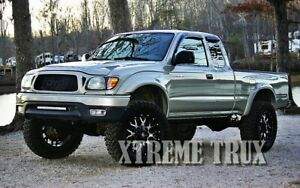Paintable Black 95 04 Toyota Tacoma Bolt On Extended Fender Flares Smooth Finish