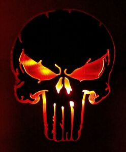 Steel Punisher Trailer Hitch Cover Distressed Led Lights