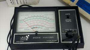 Sears Craftsman Engine Analyzer For 12 Volt Ignition Systems Complete 28 2161