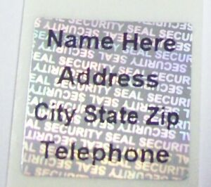 Customized Ss 3 4 Square Security Hologram Product Protection Label Stickers