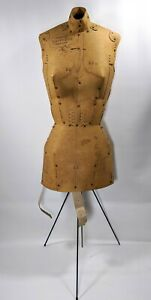 Antique Adjust o matic Mannequin Dress Form Model Vintage 1960 s