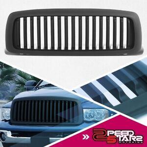 Matte Vertical Replacement Grille Grill For 2002 2005 Dodge Ram 1500 2500 3500