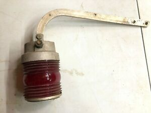 Vintage Fire Truck Rear Wig wag Stop Swinging Signal Light Old Accessory Van