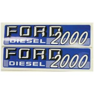 New Ford New Holland Fordson Tractor Diesel Hood Decal Kit 2000 Super Dexta