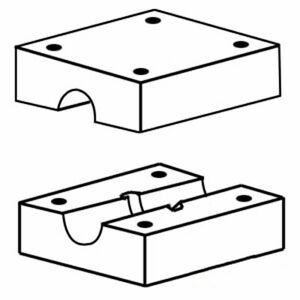 800618m94 New Combine 2 Pieces Walker Wood Blocks Made To Fit Mf 205 300 540