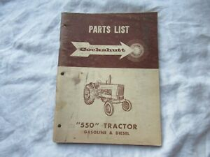 Cockshutt 550 Gasoline Diesel Tractor Parts Catalog Book Manual
