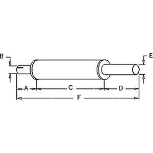 10a12633 Muffler For Mpl Moline Tractors G Gvi G6 U Z With 4 25 Shell Dia