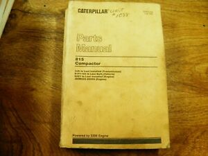 Cat Caterpillar 815 Parts Manual Book 91p1102 last Built Compactor
