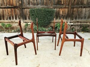 Vintage 1960 S Mid Century Danish Modern Eric Buch Rosewood Dining Chairs