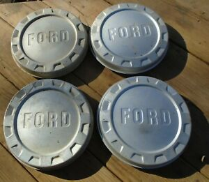 Vintage 1961 1966 Ford Pickup Truck Dog Dish Hubcaps Original Pretty Nice