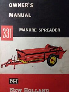 New Holland 331 Manure Spreader Farm Agricultural Tractor Owner