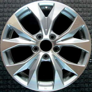 Honda Civic Machined Lip W Charcoal Spokes 17 Inch Oem Wheel 2012 To 2013