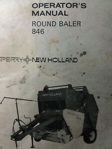 New Holland Sperry 846 Round Hay Baler Implement Owners Manual Agricultural Farm