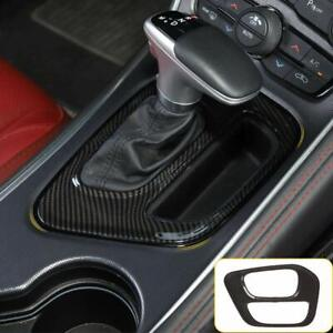Car Gear Shift Panel Covers Decoration Trim Accessories For Dodge Challenger 15