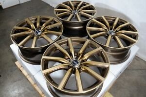 18x8 Bronze Wheels Rims 5x114 3 Ford Escape Subaru Forester Outback Civic Accord
