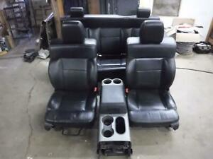 2004 2008 Ford F150 Fx4 Lariat Black Leather Seats Crew Cab W Middle Console