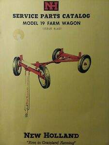 New Holland Gear Farm Wagon Agricultural Trailer Model 19 Parts Catalog Manual