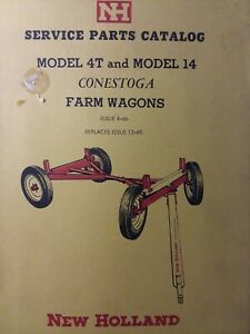 New Holland 4t 14 Conestoga Gear Farm Wagon Agricultural Parts Catalog Manual