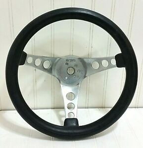 Vtg 12 1960s The 500 Steering Wheel Superior Performance Prod 3 Spoke Chrome