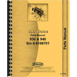 Parts Manual For Case 930 Tractor prior To 8196701