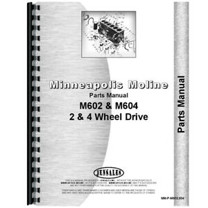 New Parts Manual Made For Minneapolis Moline Tractor Model M604