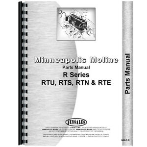 New Parts Manual Made For Minneapolis Moline Tractor Model Rts