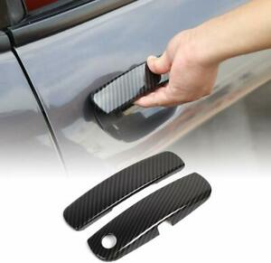 Car Door Handle Trim Cover Accessories For Dodge Challenger 2012 19 Carbon Fiber