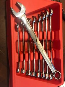 Snap On Tools Usa Flank Drive Wrench Set Combination Sae Standard 3 8 7 8 Inch