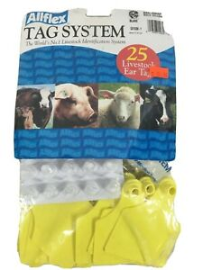 Cattle Ear Tags Blank 25 Count Yellow Global Maxi Livestock Identification Cow