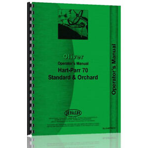 Operator s Manual For Oliver hart Parr Hart Parr 70 Tractor std orch