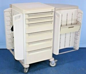 Metro Starsys Butterfly Cart Locking Medical Supply Cart With Warranty