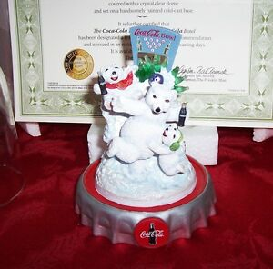NEW 1998 FRANKLIN MINT COCA COLA POLAR BEARS