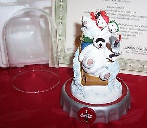 NEW 1997 FRANKLIN MINT COCA COLA POLAR BEARS