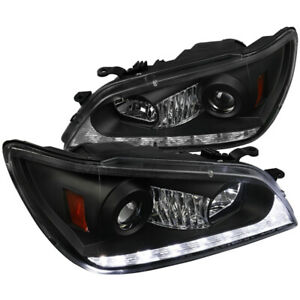 For 2001 2005 Lexus Is300 Black Projector Headlights W Led Drl Signal Strip
