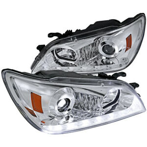 For 2001 2005 Lexus Is300 Chrome Projector Headlights W Led Drl Signal Strip