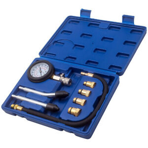 Diesel Engine Cylinder Compression Pressure Tester Gauge Test Tool Kit M12x1 25