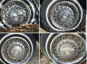 Set Of 4 15 Inch 1975 1992 Cadillac Rwd Wire Wheel Covers Fleetwood Brougham