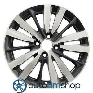 New 16 Replacement Rim For Honda Fit 2015 2019 Wheel Machined With Charcoal