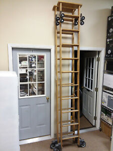 Cotterman Rolling Library Ladders 9 Ft Feet 10 Step With Hardware Pickup Only