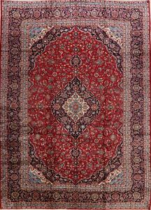 10x14 Large Hand Knotted Ardakan Floral Area Rug Traditional Oriental Red Carpet