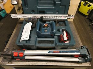 Bosch Grl 240 Hv 800ft Self Leveling Rotary Laser Level W Case Tripod Grade Rod