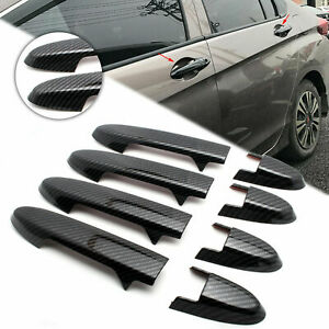 Carbon Fiber Style Door Handle Cover Trim For Honda Fit 2014 2015 2016 2018 2019
