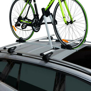 Upright Roof Mount Bike Rack Bicycle Carrier Universal Bracket W Anti theft Lock