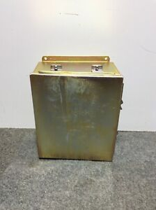 New Hoffman Metal Stainless Steel Finish Enclosure 12 X 10 X 5 Type 12 13