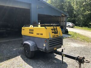 2013 Atlas Copco Xas 185 Jd7pe Air Compressor For Parts Only