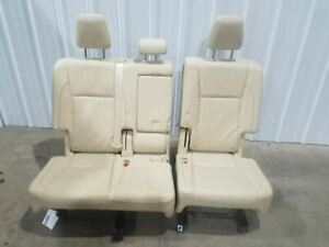 2015 Toyota Highlander 2nd Row Seat Cream Leather Split Bench Oem Nice Complete