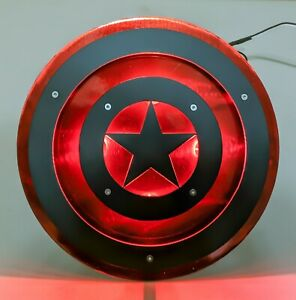 Captain America Trailer Hitch Cover With Led Lights