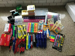 Lot Of Office School Supplies Sharpie Post it Pilot Scotch Pentel And More